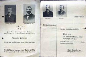 Unsere frühen Vorfahren, Praxen 1864-1934, Reichenberger Straße